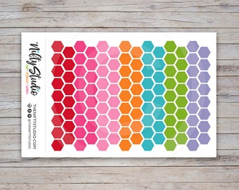 Hexagon Stickers | Planner Stickers | The Nifty Studio [133]