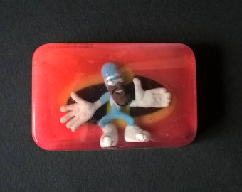 """Original  soap with toy / encrusted figurine """" Frozone """" The Incredibles - Sweet almond fragrance"""