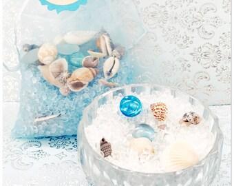 Seashell Aroma Bead Sachet Bag/Ocean Mist/Seaside Cotton/Mermaid Kisses and More!!