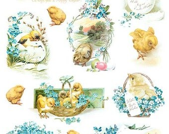 Easter Decoupage Rice paper #R829