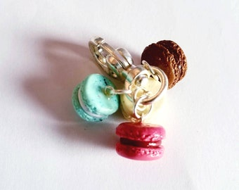 Four-Flavor Sweet French Macaroons Keychain