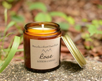 Soy | Essential Oil | Lotion Candle - Rose 4 oz.
