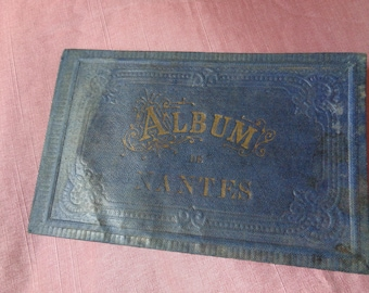 """Antique French """"Album de Nantes"""" made in Frankfurt with Photolithographie"""