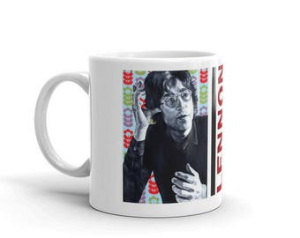 John Lennon Mug, The Beatles Mug, Coffee Mug, Musician Mug, Pop Art, John Lennon, Ceramic Mug, 11 oz mug, John Lennon Art, The Beatles Art
