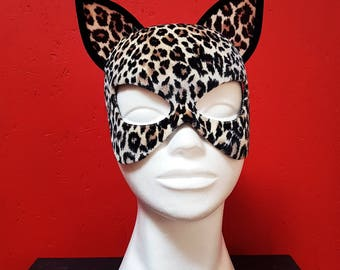 Catwoman Mask / Leopard / Leopard Cat Mask / Cat Mask / Sexy Accessory