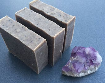 Lavender and poppy seed natural and organic soap