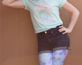 Team Mermaid Shirt, Mermaid Shirt, I'm Really A Mermaid Shirt, Mermaid Lover Shirt, Pastel Goth, Pastel Shirt, Pink Shirt, Mint Green Shirt