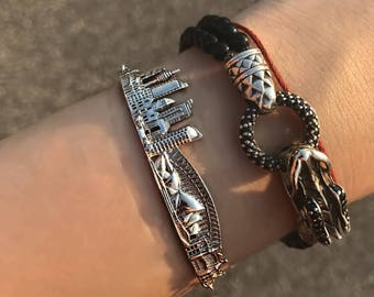 Silver Skyline Bracelet Sydney Jewelry bracelet Architecture jewelry Custom Coordinates Bracelets gift for her personalized jewelry Sydney