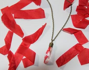 Twenty One Pilots Confetti Necklace - Irregular Crystal-Shaped - Antique Chain + Design Cap