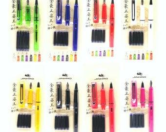 Calligraphy Pen Set, Calligraphy Pen, Fountain Pen, Pen Gift Set, Ink Refills. Gift for Her, Gift for Mom, Planner Pen, Calligraphy Gift