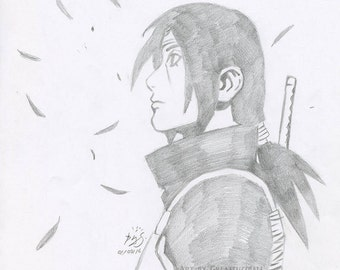 itachi uchiha anime portrait anime gifts manga art limited edition art print