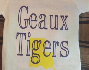 LSU Tigers toddler short sleeve shirt