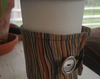 Wrap Around Coffee Sleeve - Earth Toned