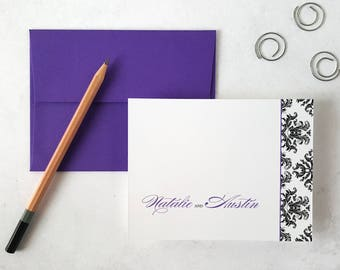 Wedding Stationery | Bespoke Notecards | Custom Stationary Set | DAMASK | Personalized Stationery | Custom Note Cards