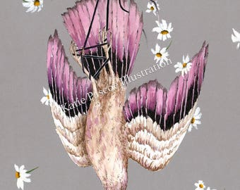 Totems - illustrated art print, bird art, animal art, animal watercolour, seemingly by magic