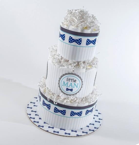 Diaper Cake - Diaper Cakes - Bow Tie Diaper Cake - Bow Tie Baby Shower - Baby Shower Decor - Little Man Baby Shower- Baby Boy Diaper Cake