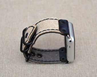 Apple Watch Band 42mm - iWatch Band Leather Accessories - Apple Watch Strap Fabric 38mm - iWatch Strap Adapter Silver