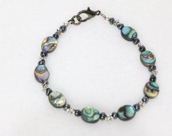 Abalone & Stars bracelet.         B-3074