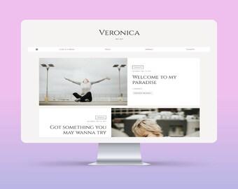 SALE! Veronica | Responsive Minimalist Premade Blogger Template