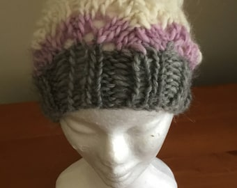 Lacy Slouch Knit Beanie In Ski-bunny Multicolour