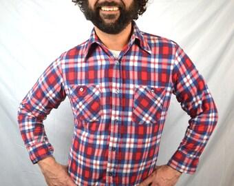 Vintage Plaid Grunge Flannel Shirt - Hadaway