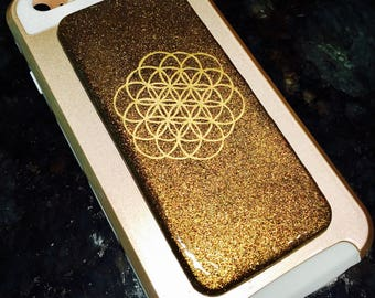 LgCellgone Orgonite® ~ Orgone for Cell Phone/Laptop/Tablet/iPad EMF Radiation Protection with Shielding Fabric ~  Shungite, Flower Of Life