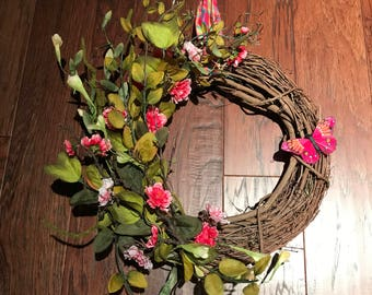 Easter Wreath, Spring Wreath, Welcome Wreath, Simply Elegant, Front Door Decor, Easter Decor, Designer Wreath,  Easter Gift, Ready to Ship