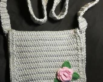 Mid-size handmade crochet bag