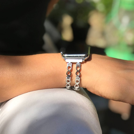 Preorder: Apple Watch Bangle -  Infinity - more colors available - stainless steel and zirconia stones - ships by end of November