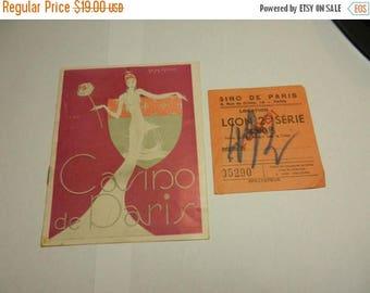 Summer Sale Vintage 1945 Casino de Paris Program and Ticket