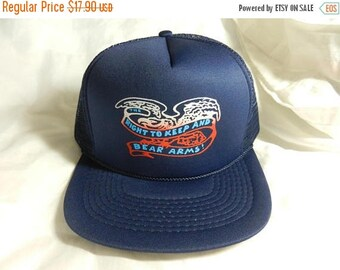 Summer Sale Vintage 1980s New Old Stock The Right to Keep and Bear Arms  Hat