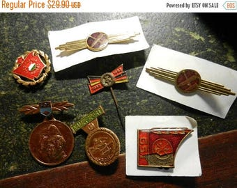 Inventory Sale Vintage Grouping of East German Military Insignia