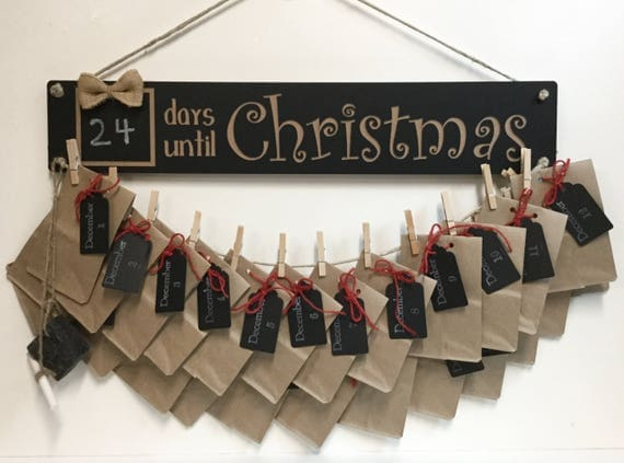 Rustic Christmas Countdown Advent Calendar Kit