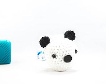 Car accessory, crochet panda, panda car hanger, car mirror decor, Crochet Animal Panda decoration, amigurumi panda, stuffed panda
