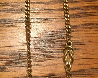 Gold Tone Monet Necklace/Chain Costume