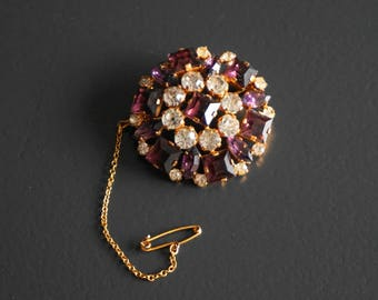 Beautiful 1950s Rhinestone Brooch // Vintage Jewellery // Gifts for Her.