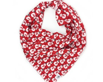 Mr Snowman Red Christmas Dog Bandana