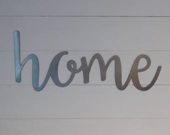 Home Sign, Metal Home Sign, Rustic Word Art Sign, Housewarming Gift Idea