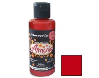 Armonia 60 ml - Scarlet red fabric paint