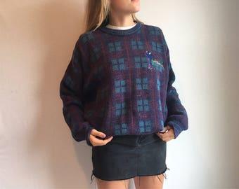 Vintage Plaid Golf Sweater