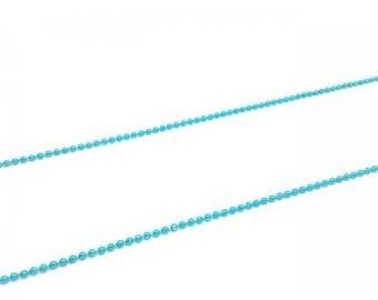 5 m balls 1.5 mm blue ball chain