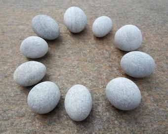 Egg Stones, Round Beach Stones, Easter Egg Stones, Spherical Beach Pebbles, Egg Shaped Pebbles