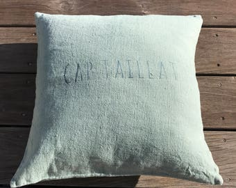 Cap Taillat washed linen pillow cover