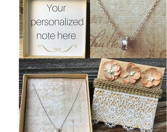 Personalized Gift For Bridesmaid, Bridesmaid Gift, Necklace Gift, Bridal Gift Box, Wedding Party Gift