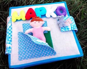 Softbook, Quiet Book, Busy Book, Felt Activity Book, , Gift for baby,  Handmade Children's Book