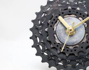 unique bike clock industrial clock modern clock unique desk clock cyclist gift