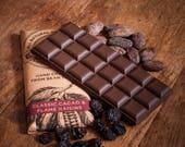 Dairy Free Vegan Alternative to Milk Chocolate with Flame Raisins