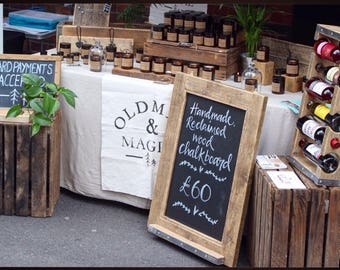 BENJAMIN | Reclaimed Wood Chalk Board - Handmade & Bespoke