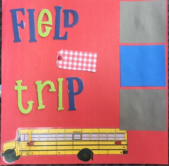 Scrapbooking: Field Trip, 12x12 Premade Scrapbook Page