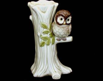 Vintage owl vase-cute old porcelain figurine